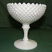 Westmoreland Milk Glass English Hobnail Footed Vase