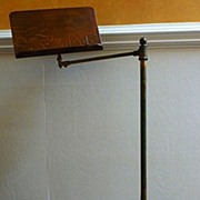 Ornate Victorian Cast Iron, Brass and Oak Music Stand, English. FREE SHIPPING!*