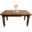 Antique English Victorian Mahogany Wind Out Extending Dining Table. FREE SHIPPING!*