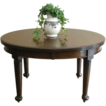Antique English Mahogany Oval Extending Dining Table.