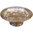 English Art Deco Silver Plated Compote, Footed Bowl.