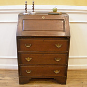 Antique English Oak Drop Front Bureau Desk.