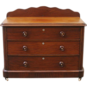 Antique English Victorian Mahogany Chest of Drawers. FREE SHIPPING!*
