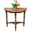 Antique English Solid Wood Small Demi-Lune Side, Hall, Console, Lamp Table