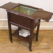 Antique English Oak Sewing Box Table. FREE SHIPPING!*