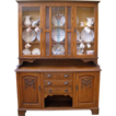 Large Antique English Carved Oak Stained Glass Dresser/Sideboard/China Cabinet/Hutch. FREE SHIPPING!*