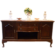 Antique English Mahogany Large Sideboard, Server, Buffet. FREE SHIPPING!*