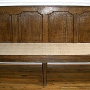 Antique English Large Georgian Oak Hall Bench or Settle, FREE SHIPPING!*