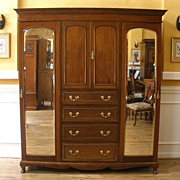 Antique English Mahogany Compactum Wardrobe Armoire. FREE SHIPPING!*
