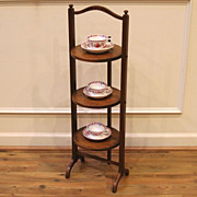 Antique English Mahogany Three Tier Cake Stand. FREE SHIPPING!*