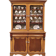 Antique Victorian Mahogany & Oak Welsh Dresser, China Cabinet. FREE SHIPPING!*
