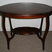 Solid Mahogany Side End Occasional Table. English C.1910