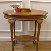 Antique English Oak Claw Foot Side End Occasional Table.