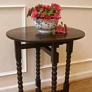 Antique English Oak Folding Occasional, Side Table. FREE SHIPPING!*