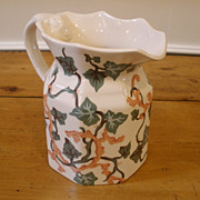 Vintage Tiffany & Co. Ceramic Jug, Tiffany Ivy by Sybil Connolly, English.