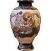 Large Vintage Japanese Satsuma vase. Immortals Design. C.1940