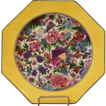 Vintage Crown Ducal Purple Chintz Octagonal Plate. English