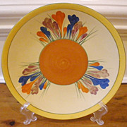 Vintage Clarice Cliff Plate, Crocus Pattern, Newport Pottery, English.