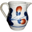 Small 19th Century Gaudy Welsh Jug, Creamer. Oyster Pattern.