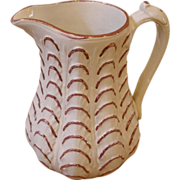 Antique English Victorian Pink Luster Jug, Pitcher.