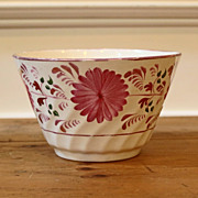Antique English Pink Lusterware Bowl
