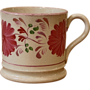 Antique English Pink Lusterware Cup, Mug
