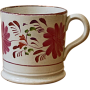 Antique English Pink Lusterware Cup, Mug.