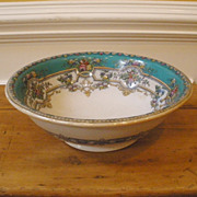 Antique English Large Victorian Ceramic Hand Painted Wash Basin, Bowl.