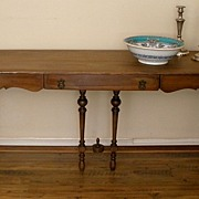 French Country Style Long Sofa Table. American C.1920.