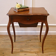 Antique French Country Mahogany Sewing, Work, Vanity, Side Table. FREE SHIPPING!*