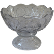 Large Antique Pressed Glass Punch Bowl, New Martinsville, Carnation Pattern.