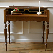 Antique American Mahogany Spinet Style Desk, Writing Table.