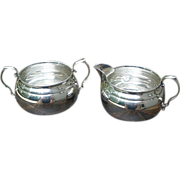 Gorham, Sterling Silver Sugar & Creamer Set.