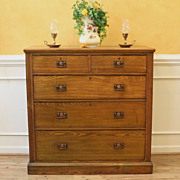 Large Antique English Oak Chest of Drawers. Arts & Crafts