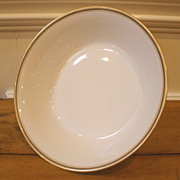 Antique Porcelain Limoges Serving Bowl. J Pouyat, France.