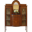 Antique English Mahogany Edwardian Inlaid China Cabinet Display Etagere. FREE SHIPPING!*