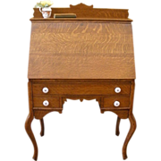 Antique American Oak Bureau, Drop Front Desk.