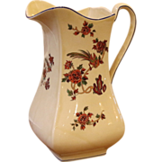 Large Vintage Earthenware Pitcher, Jug. Royal Venton, England.