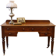 Antique Victorian English Mahogany Desk, Sofa Table, Console.