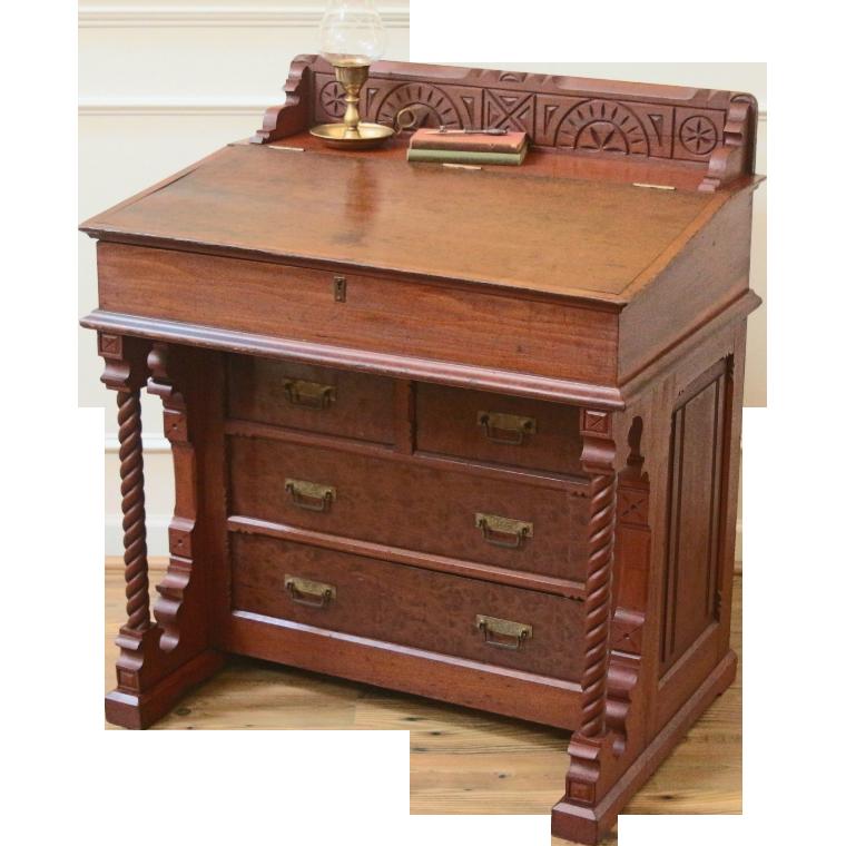 slanted writing desk