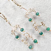 HELEN'S EMERALDS Earrings Emerald 24K GV Lightweight