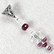 Isabella Longs for Love Necklace Ruby Rhodolite Garnet Silver Medieval Style