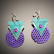 Anodized Aluminum Funky Earrings