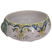 SALE Vintage Mont St Michel Faience Bowl with Gourd Handles