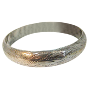 Sterling Bangle Beautifully Engraved and Signed ND 925