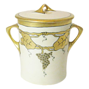 Heuchenreuther Evaporated Milk Jar with Lid and Hand Painted