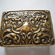 Brass and Glass Stamp Box