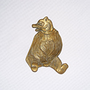 Engraved Brass Bear Coin / Pin Dish
