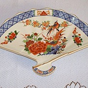 Japanese Imari Fan-Shaped Dresser Dish