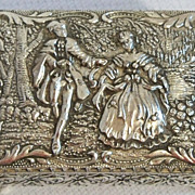 Courting Couple Jewelry Casket Trinket Box